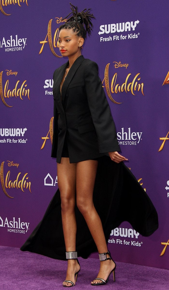 Willow Smith flashed her skinny legs in an outfit from cult Romanian streetwear label Seen Users