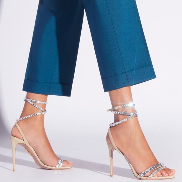 Nude So Vera Swarovski Crystal Embellished Slingback Sandals