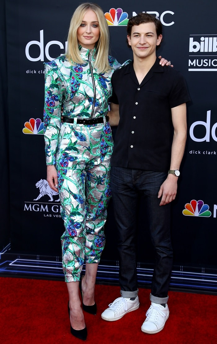 Sophie Turner and Tye Sheridan at the 2019 Billboard Music Awards held at the MGM Grand Garden Arena in Las Vegas on May 1, 2019