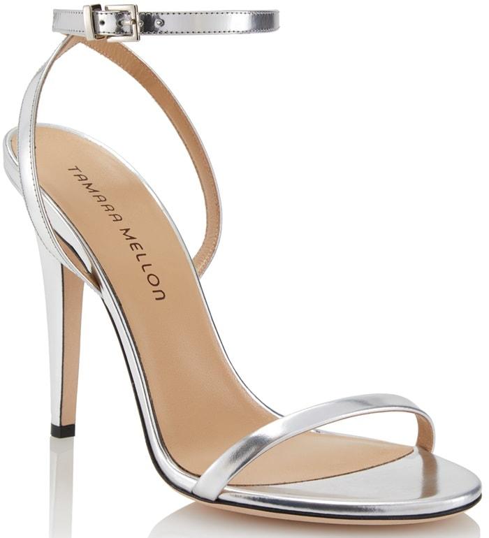 Argento Specchio Reveal Metallic Sandals