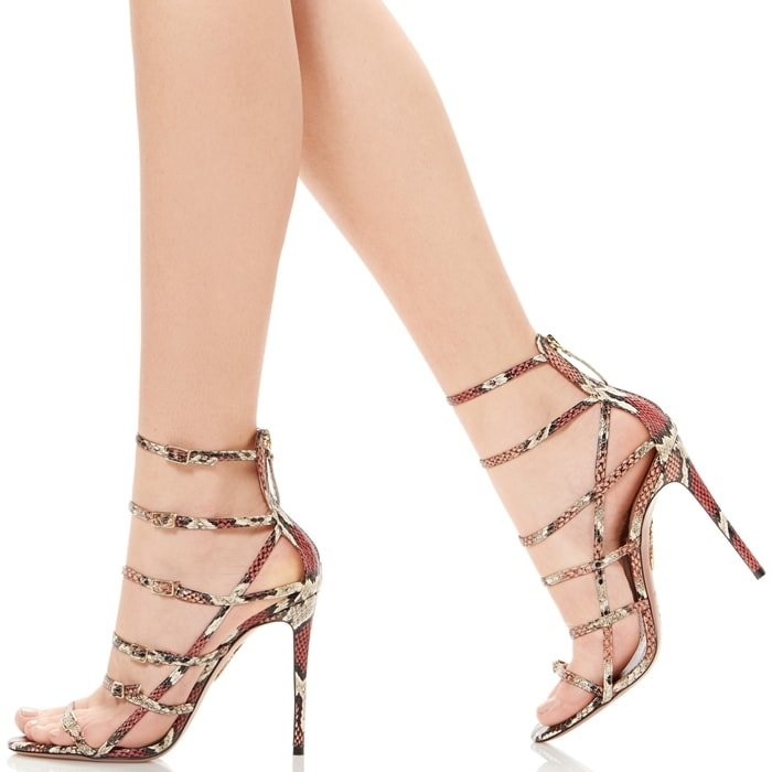 Cherry Red Kenya Watersnake Super Model Sandals