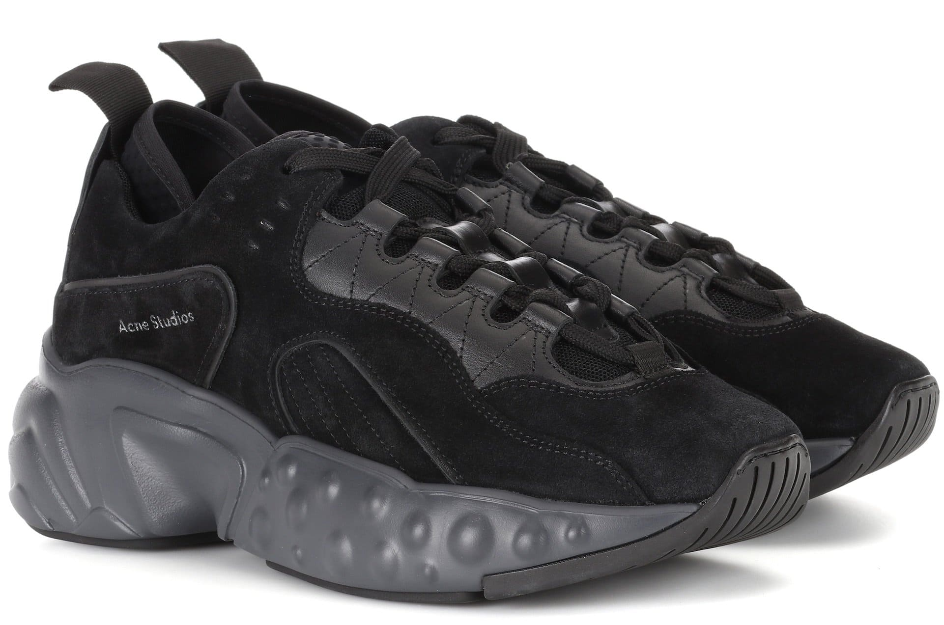 Acne Studios black suede sneakers