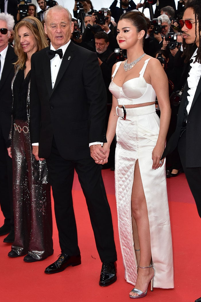 Bill Murray and Selena Gomez holding hands