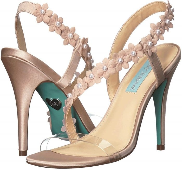 Baha Sandals With Floral Appliqué and Pearl-Like Detail