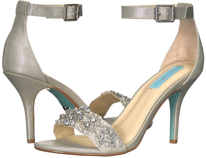 Embellished, shiny and oh, so pretty, these lovely stiletto sandals will bring ladylike charm to any outfit