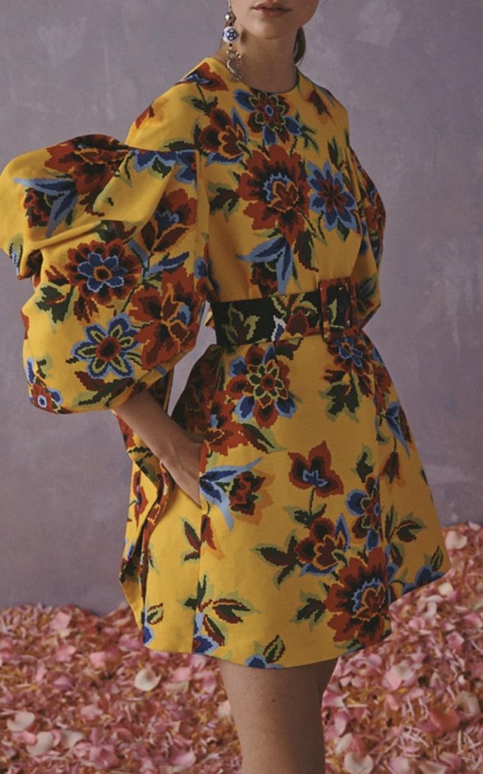 Carolina Herrera Printed Cotton-Silk Shift Dress