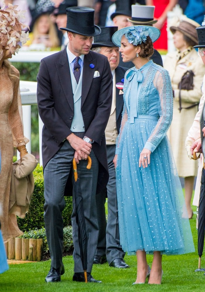 Catherine, Duchess of Cambridge (aka Kate Middleton) and her husband Prince William kick off the annual five-day horse race