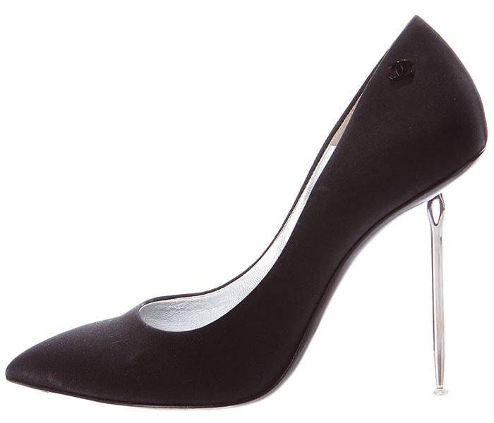 Chanel needle heel pumps