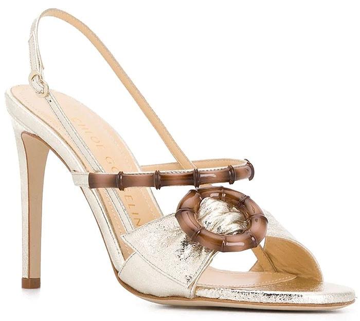 Chloe Gosselin 'Celeste' Sandals in Gold Nappa Leather