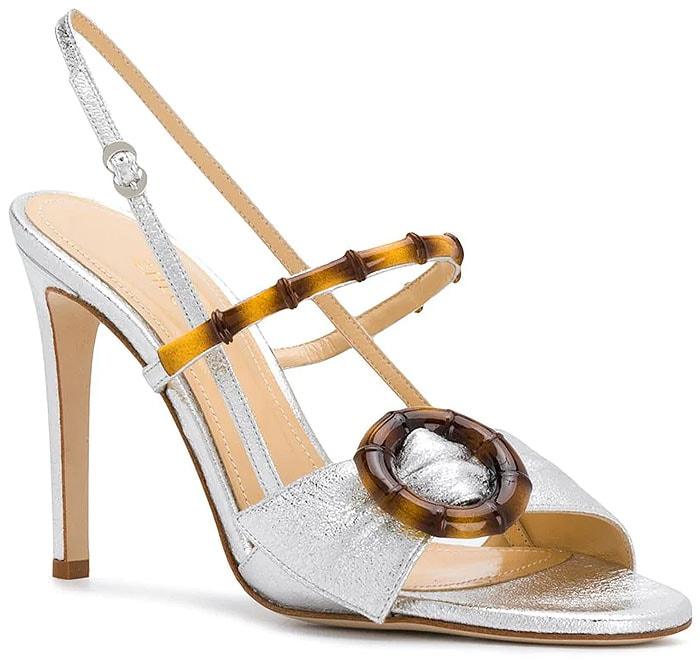 Chloe Gosselin Celeste Sandals in Silver Nappa Leather