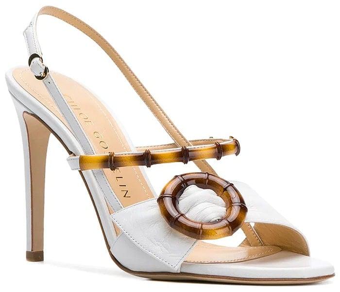 Chloe Gosselin 'Celeste' Sandals in White Leather
