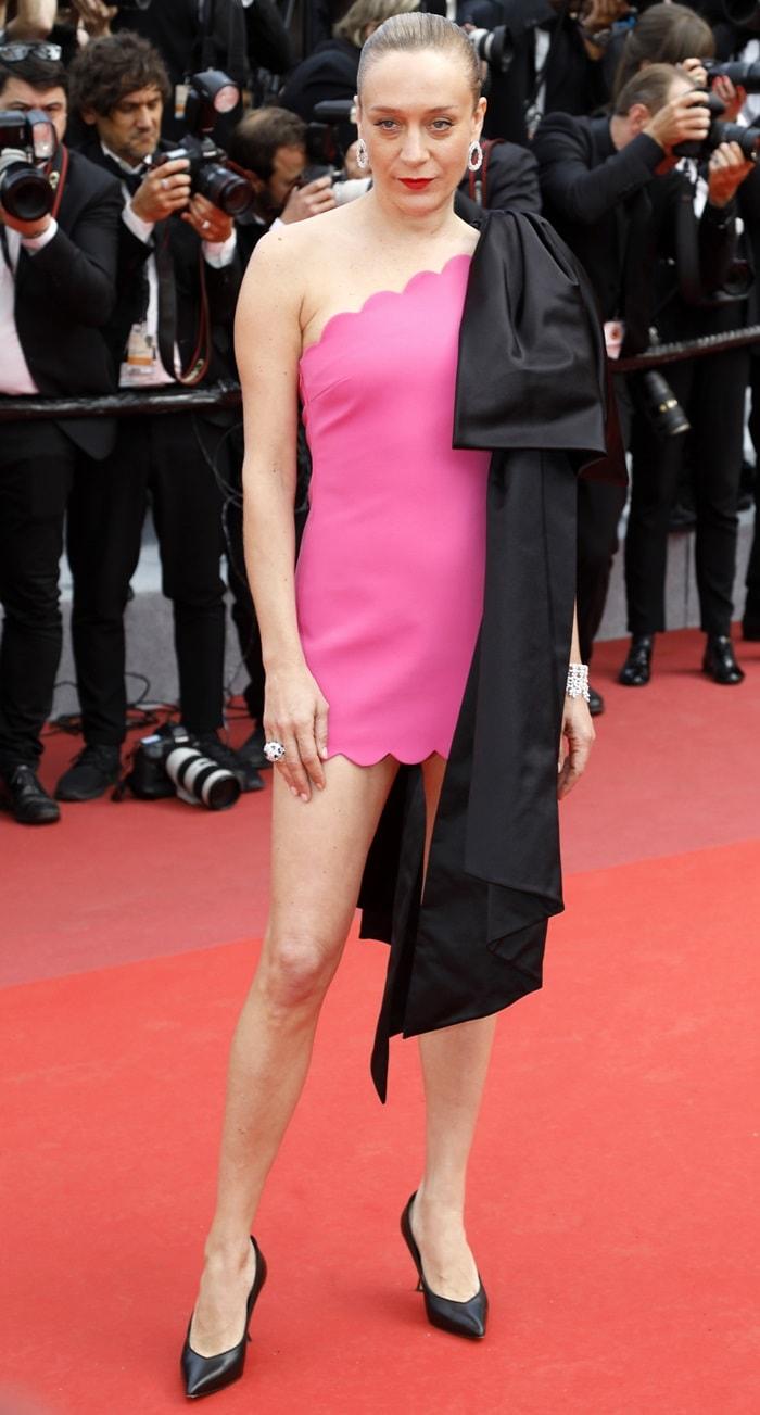 Chloe Sevigny's bubblegum pink dress