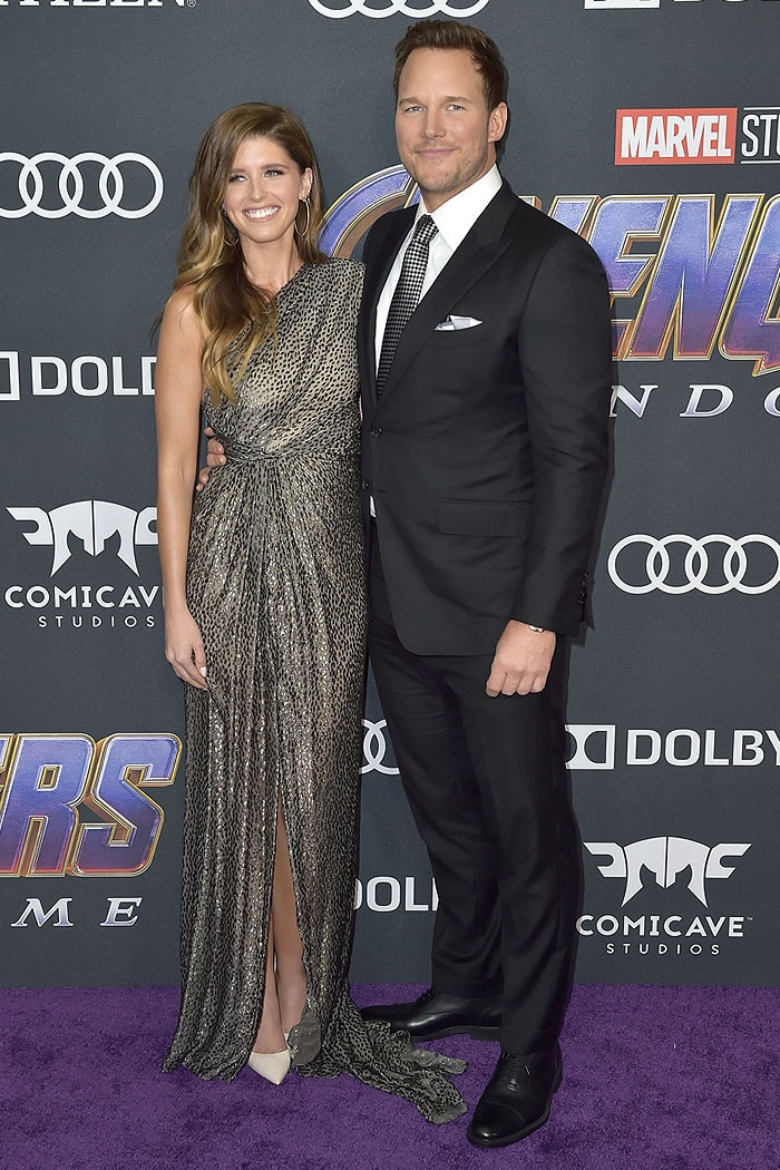 Now married Katherine Schwarzenegger and Chris Pratt at their red carpet debut as a couple at the Avengers: Endgame premiere