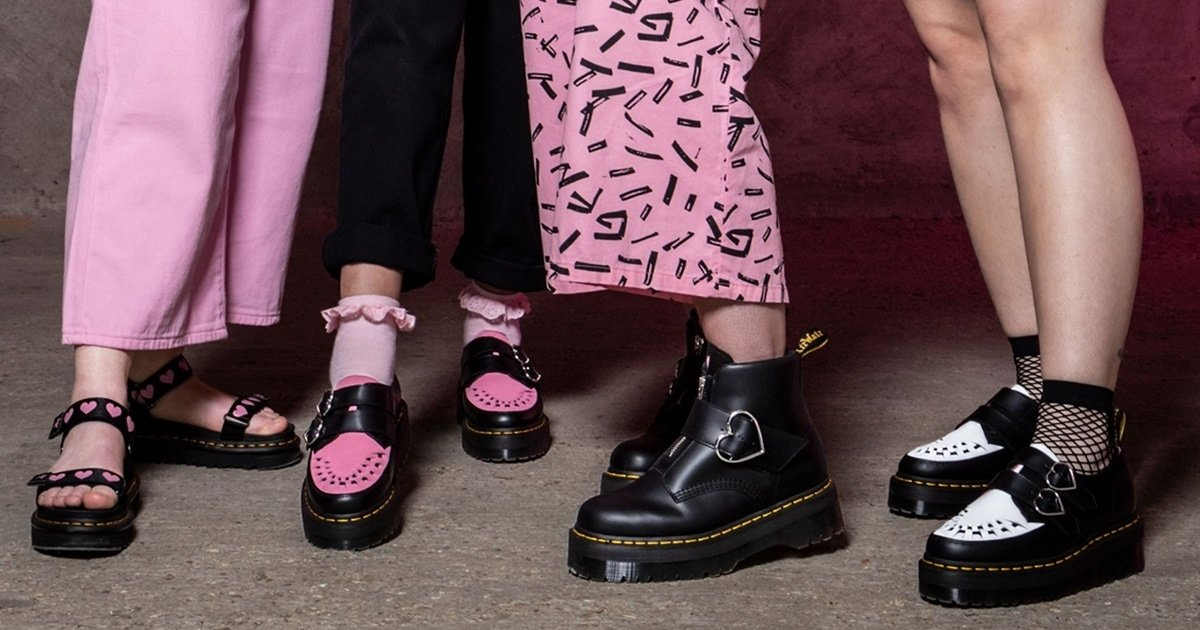 Dr Martens And Lazy Oaf Launch Hot Heart Shoes For Summer