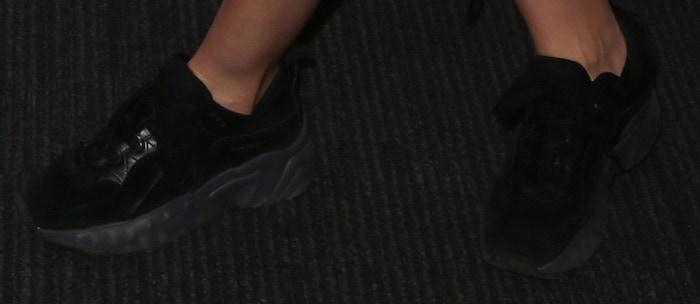 Ella Eyre in acne studios suede sneakers