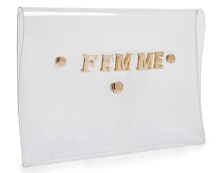 Maria Menounos' $7 Forever 21 FEMME vinyl clutch