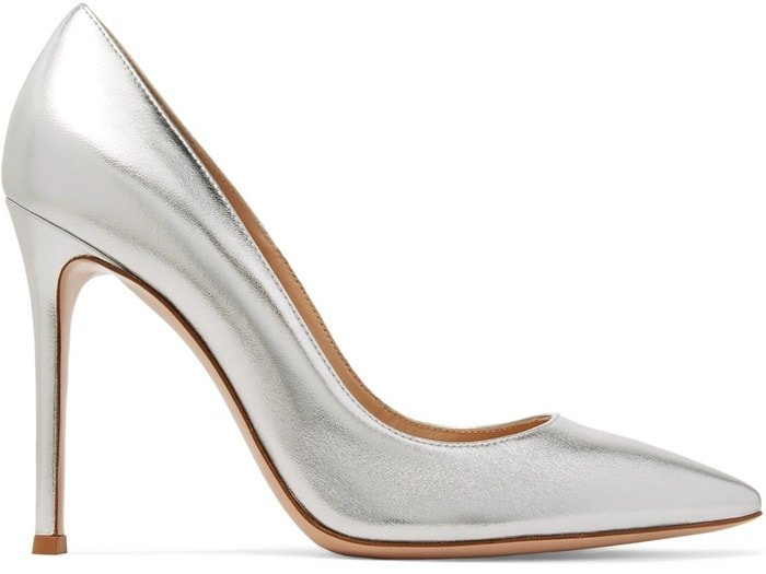 Made in Italy from supple leather, this pair has sharp pointed toes and thin stiletto heels