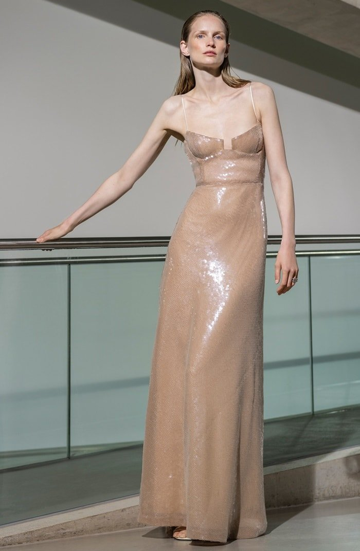 Galvan Phoebe Sequin-Embellished Crepe Gown
