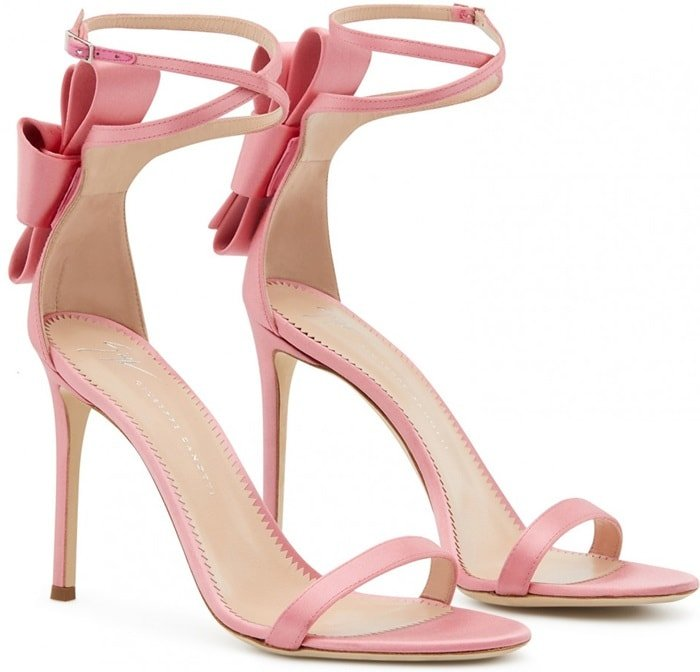 These satin and leather Alina Bow sandals from Giuseppe Zanotti will surely make a solid addition to your footwear arsenal