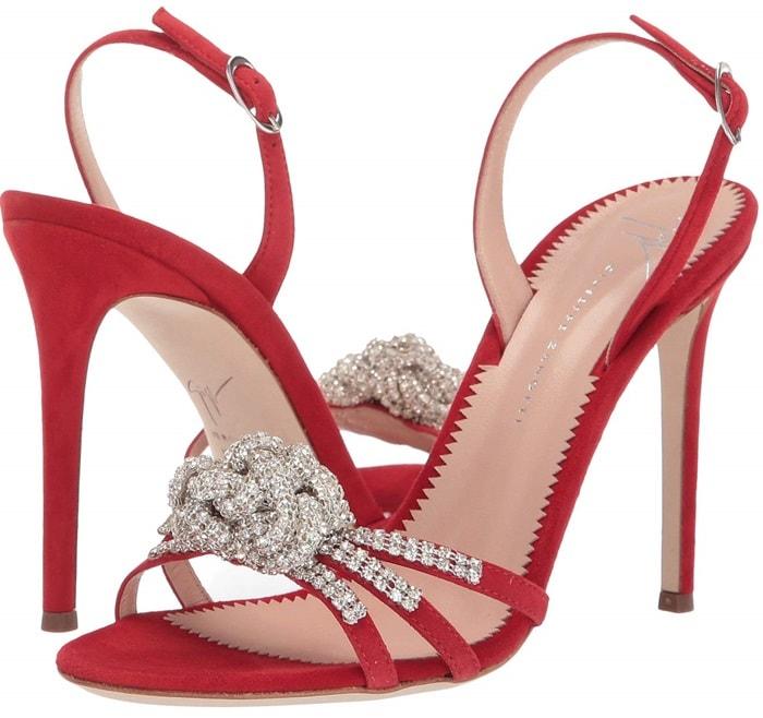 Kanda Fiamma Blossom Rhinestone Slingback Heel Sandals