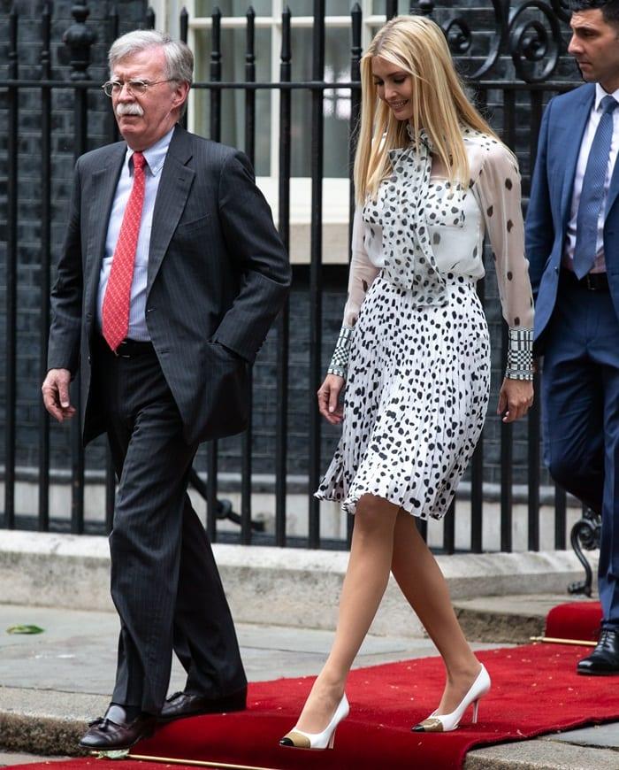 John Bolton and Ivanka Trump at Downing Street to meet PM Theresa May