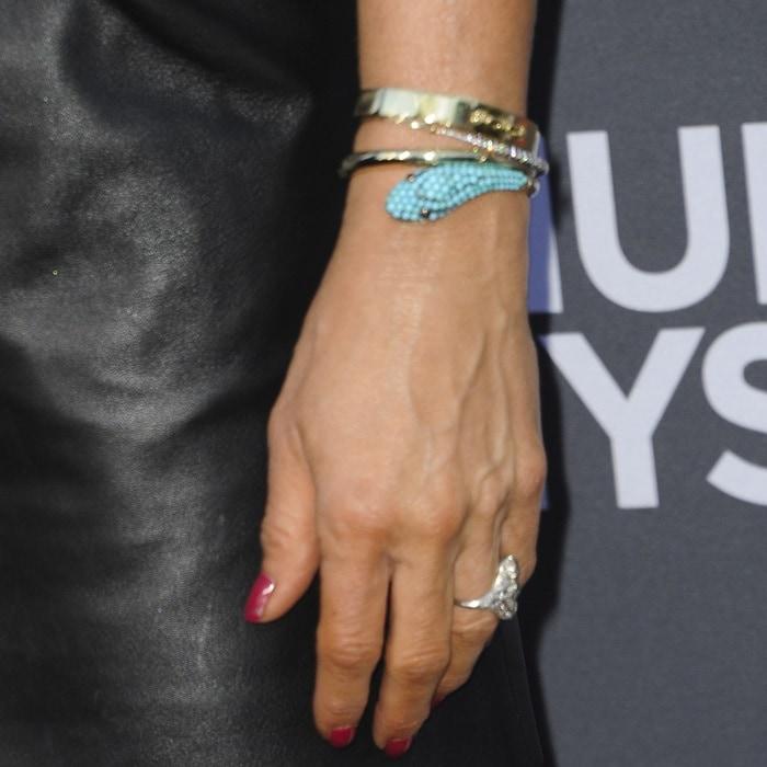 Jennifer Aniston's diamond ring and bracelets