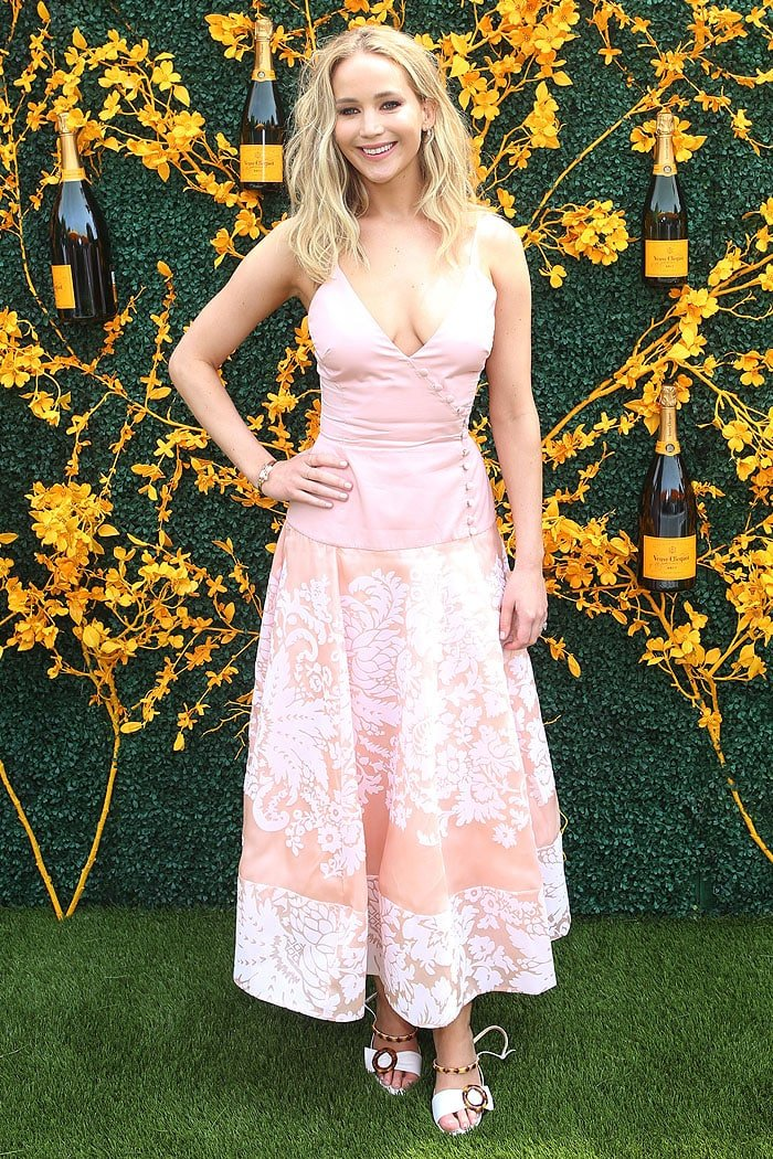 Jennifer Lawrence at the 2019 Veuve Clicquot Polo Classic at the Liberty State Park in Jersey City, New Jersey, on June 1, 2019