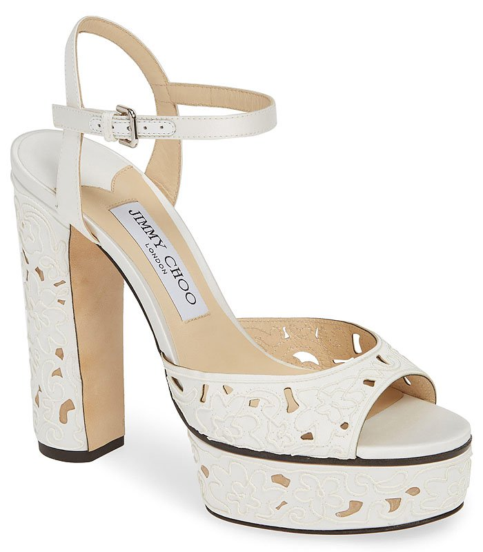 Jimmy Choo Peachy Embroidered Sandals