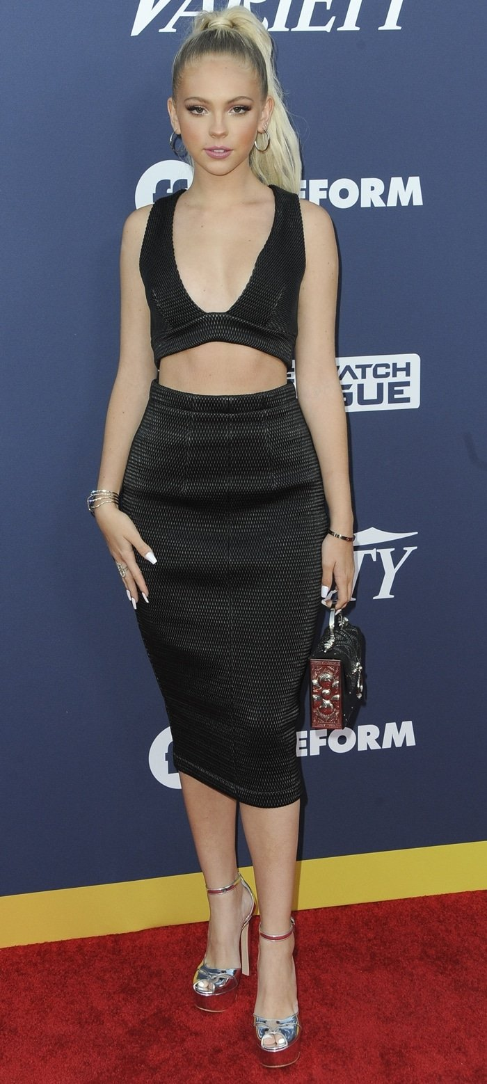 Jordyn Jones flaunts her long legs at Variety's 2019 Power of Young Hollywood event