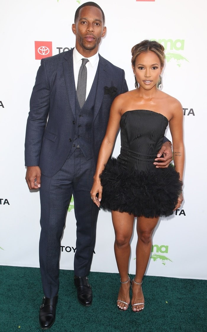 Karrueche Tran and Victor Cruz at the 2019 Environmental Media Awards