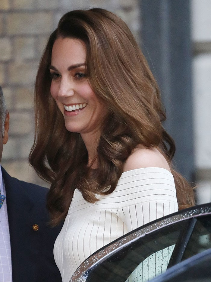 Catherine, Duchess of Cambridge arriving at the Action on Addiction Gala