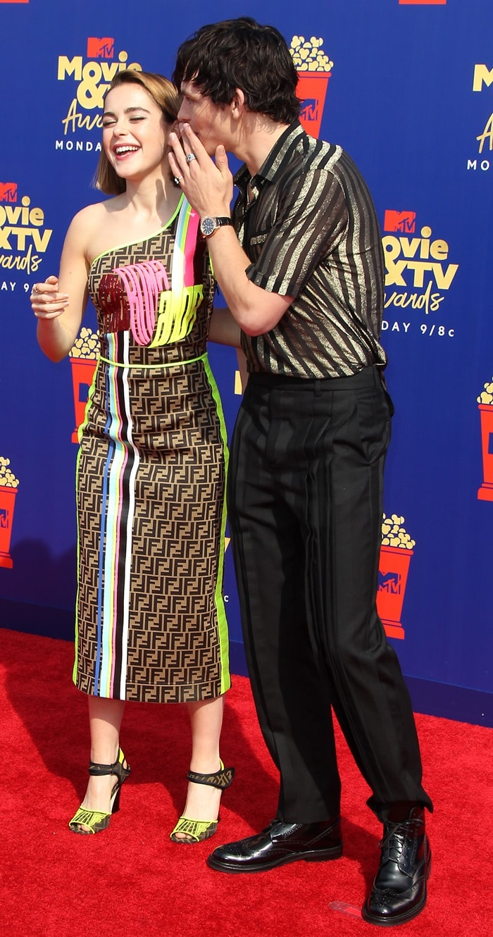 Ross Lynch and Kiernan Shipka having fun on the red carpet at the 2019 MTV Movie and TV Awards