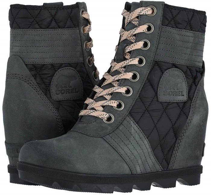 The weather might turn bad but you will always look and feel good with the waterproof Lexi wedge booties
