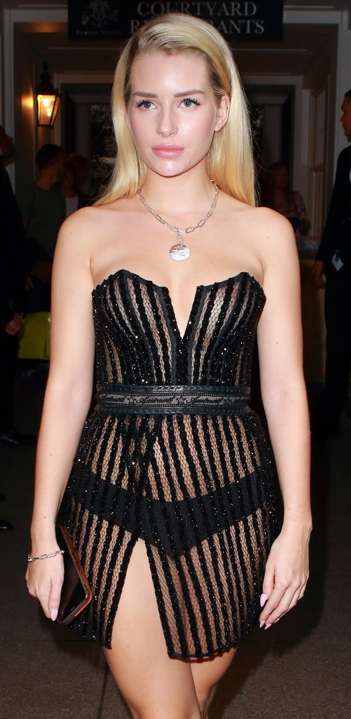 Lottie Moss wore a see-through dress to the ELLE List VIP Party
