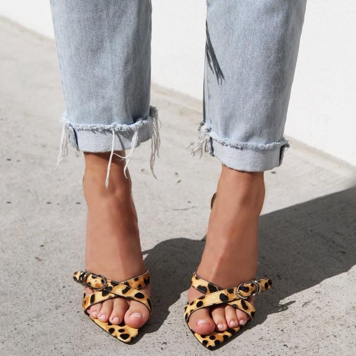 Leopard Print Mikki Slip-On Sandals