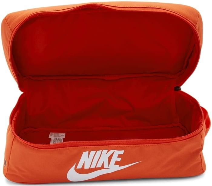 Nike Orange Nylon Shoe Box Bag