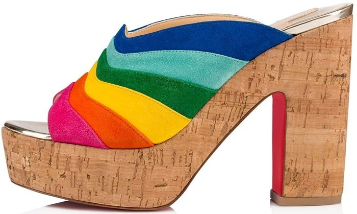 Christian Louboutin's O Sister mules are constructed of multicolored supple suede