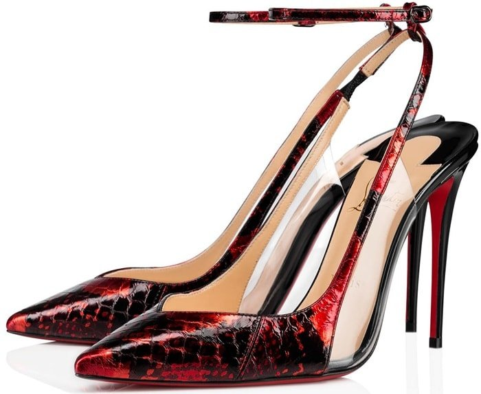 A mix of purity and timelessness, this pointy-toed pump built on the Kate silhouette reveals with elegance the savoir-faire of the Louboutin