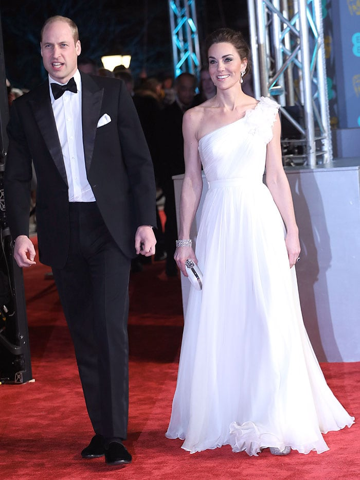 Prince William and Kate Middleton at the 2019 British Academy Film Awards