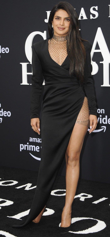 Priyanka Chopra's sexy high-low Galia Lahav Fall 2019 dress