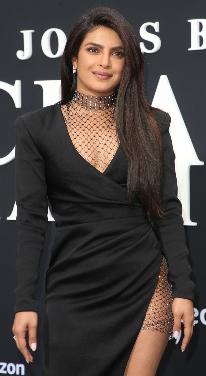Priyanka Chopra wore a chain mail bodysuit underneath her dress