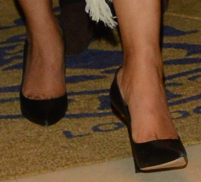 "Priyanka Chopra's hot feet in Casadei ""Blade"" pumps"