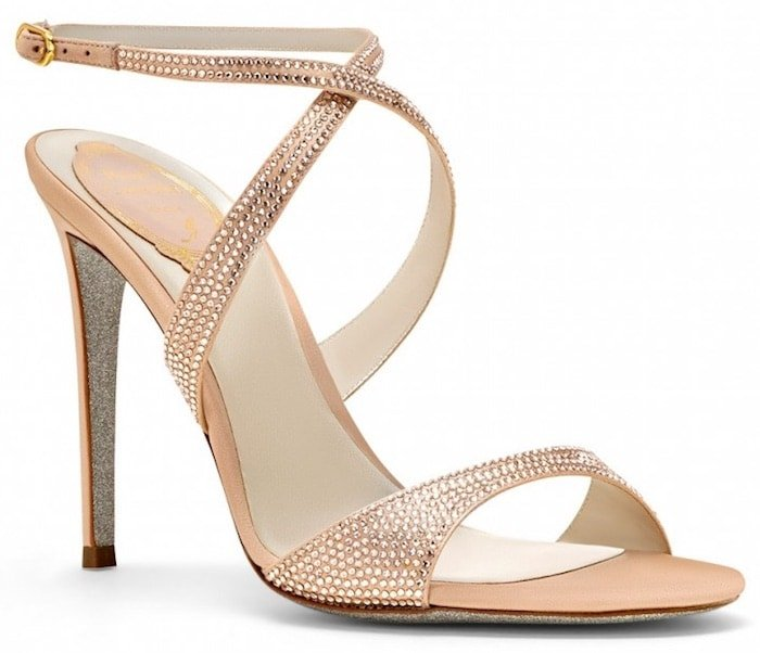 Rene Caovilla Krisabrita Strass 100 mm Sandals