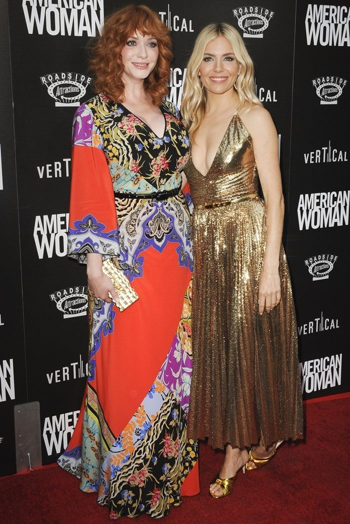 Sienna Miller and Christina Hendricks at the premiere of American Woman