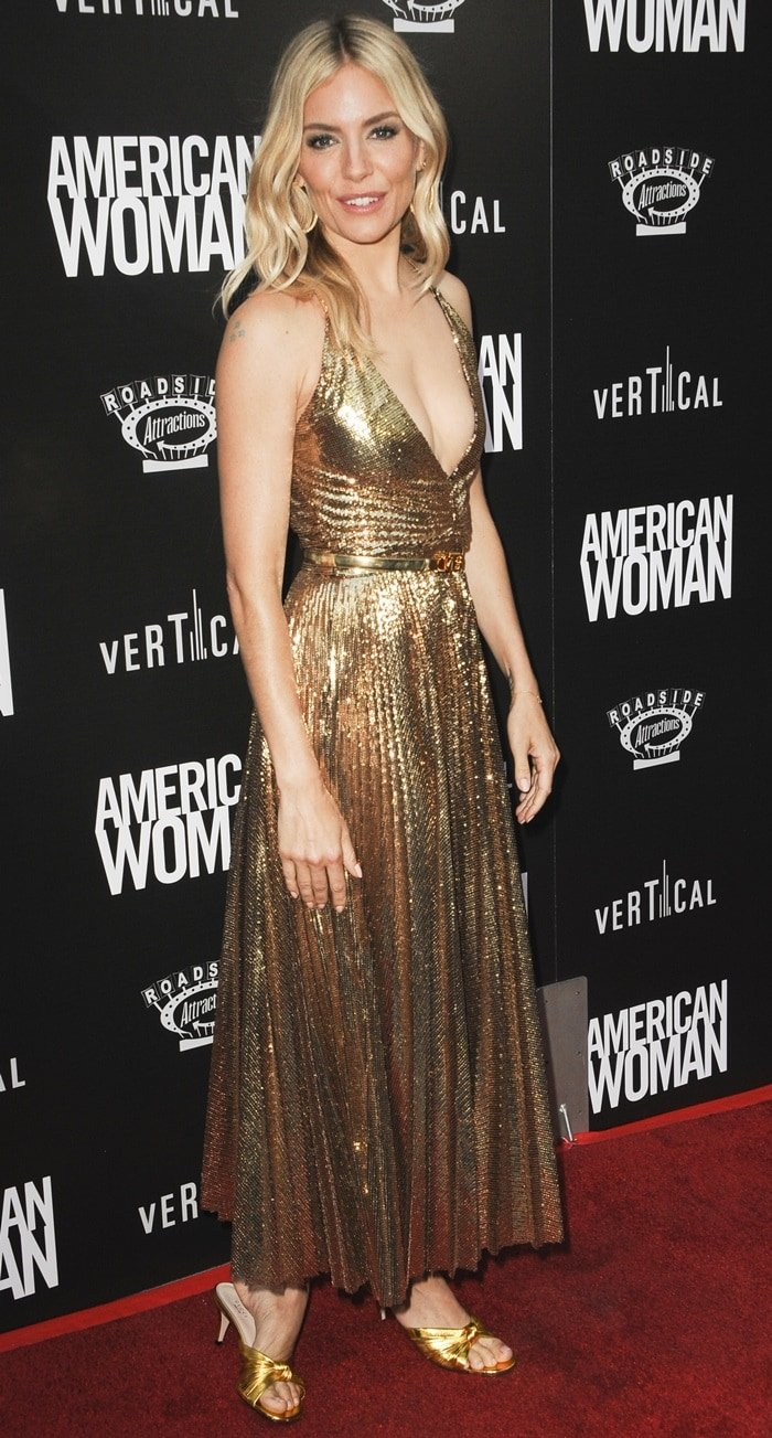 Sienna Miller sparkled at the premiere of American Woman
