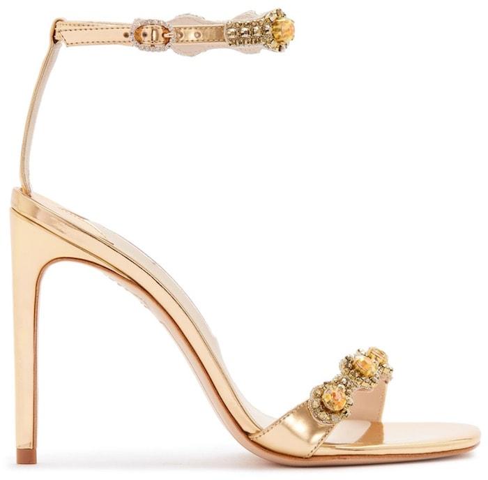 Sophia webster aaliyah ankle strap floral embellished sandals