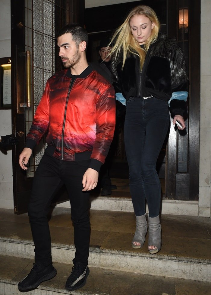 Sophie Turner and boyfriend Joe Jonas celebrated her birthday at 34 Mayfair in London