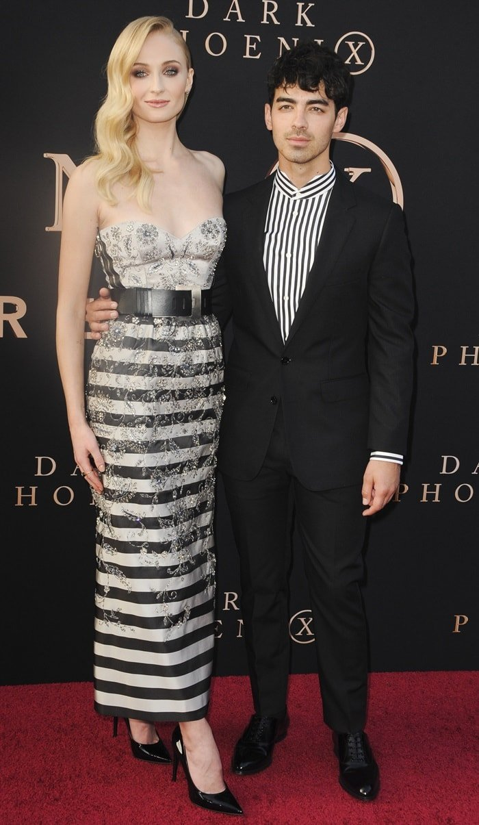 Sophie Turner alongside her husband Joe Jonas at the Dark Phoenix premiere