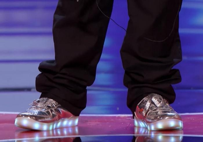 Tyler Butler-Figueroa's light-up shoes