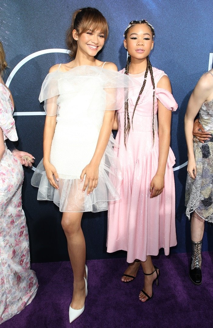 Zendaya was joined by her 15-year-old co-star Storm Reid
